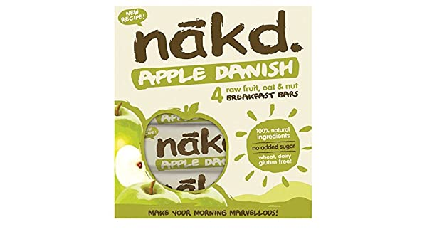 Nakd Apple Danish Bar Multipack 4 x 30g (Case of 12): Amazon.es: Salud y cuidado personal