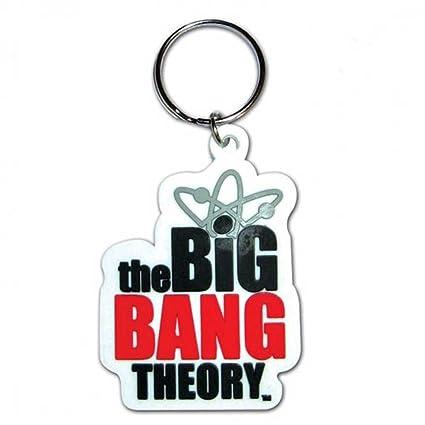 Llavero de goma, con logotipo de The Big Bang Theory, 5 cm