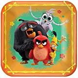 """Angry Birds"" Orange Square Party Paper Plates"
