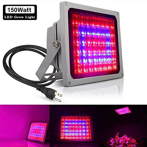 $43.99 150W Full Spectrum LED Grow Light Indoor, Derlights Plant Led Flood Lights with Blue 460nm and Red 630nm, Growing Lamp for Indoor Plant Greenhouse Hydroponic (150W) 2019