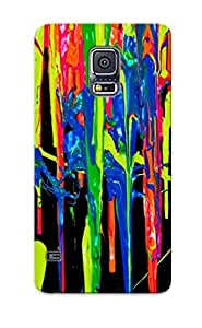 Case Provided For Galaxy S5 Protector Case Vibrant Paint Flow Phone Cover With Appearance