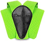 Decalen Mens Suspenders with Very Strong Clips Heavy Duty Braces One Size Fits All Big and Tall Wide Adjustable and Elastic Y Shape (Green Neon)