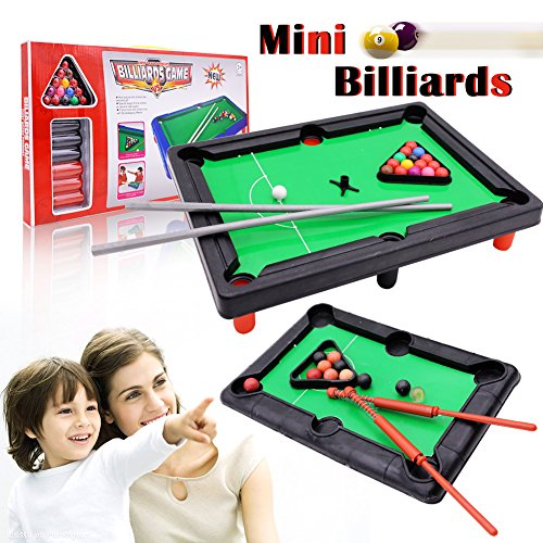 Mini Tabletop Pool Set Miniature Pool Table Set Tabletop Pool For - Mini billiards table set