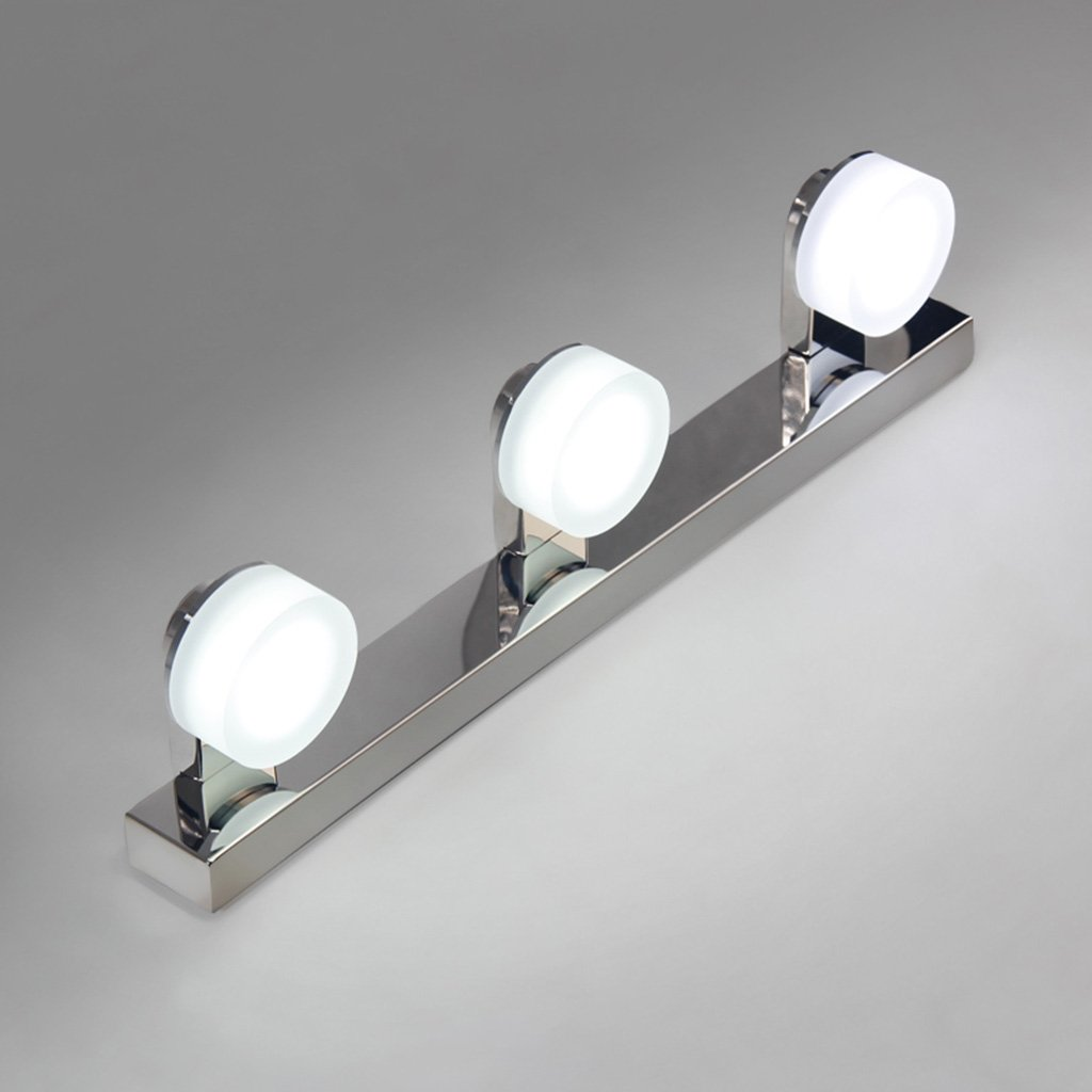 badezimmerlampe Edelstahl LED Badleuchte Anti-Fog Feuchtigkeitslampe Make-up Lampe (Farbe   Gelbes Licht-9w46cm)