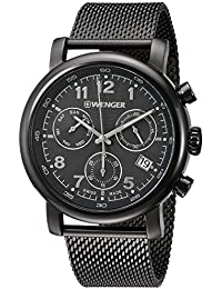 Men's 'Urban Classic Chrono' Swiss Quartz Stainless Steel Casual Watch, Color Grey (Model: 01.1043.108)