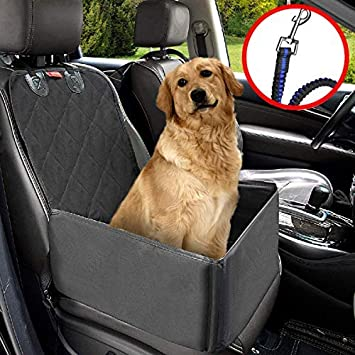 Pet Car Seat Covers >> Matcc Pet Car Booster Seat Pet Dog Car Supplies Waterproof Pet Car Seat Cover Single Front Seat With Safety Leash Pet Car Carriers Puppy Travelling