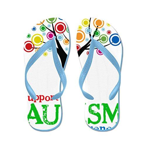 Cafepress Support Autism - Flip Flops, Roliga Rem Sandaler, Strand Sandaler Caribbean Blue