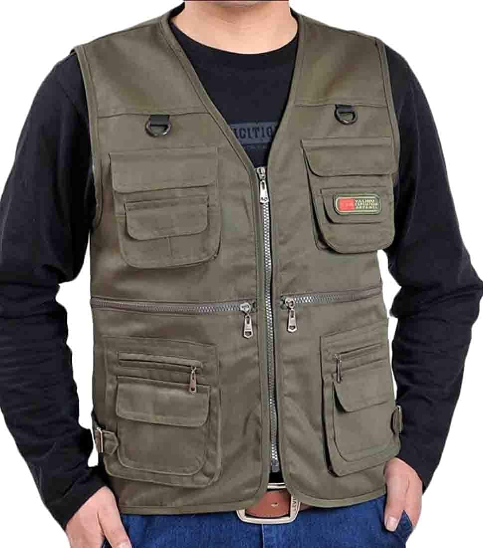 xiaohuoban Men Casual Outdoor Military Travel Fishing Multiple Pockets Vest