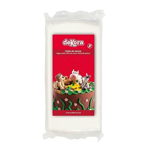 Dekora - Cobertura para Tartas de Fondant de Color Blanco - 3 de 250 gr