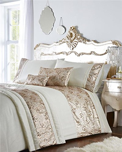 dd2dcf455e6 Homemaker Luxury bed sets with rose gold or silver sequins duvet covers   optional  extras  Amazon.co.uk  Kitchen   Home