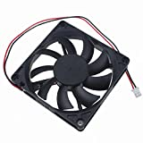 80mm 24v fan - GDSTIME 80mm x 80mm x 15mm 8cm Dual Bearing DC 24V 0.14A Brushless Cooling Fan