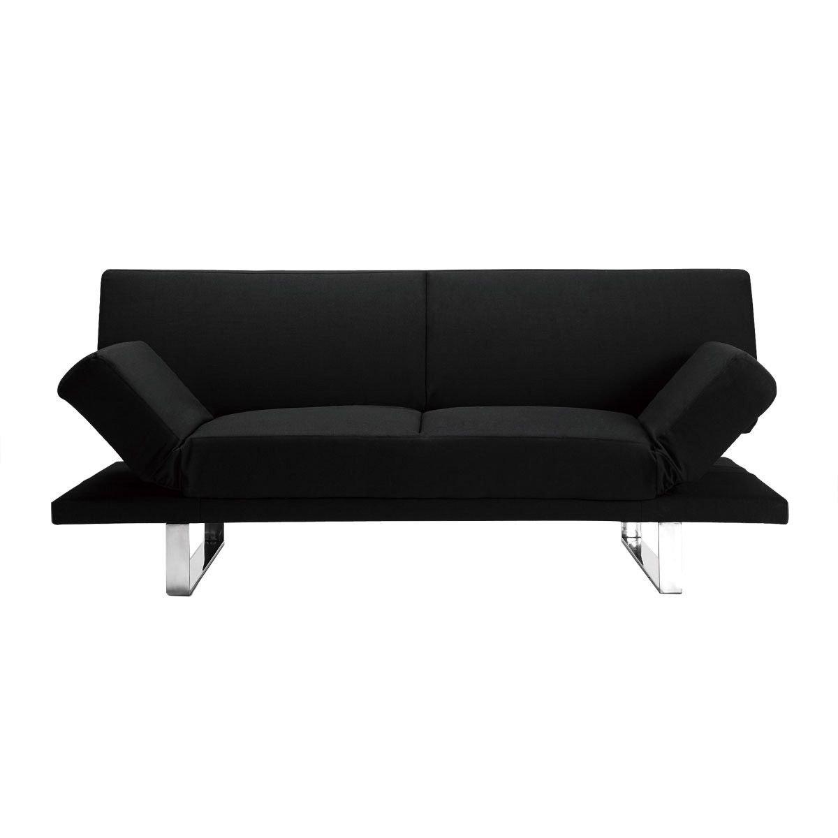 Miliboo - Sofá convertible de diseño negro ATLANTA: Amazon ...