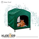 Kleeger Premium Canopy Pet House Retreat - Waterproof Indoor & Outdoor Shelter - Suitable For Cats & Small Dogs - Lightweight, Portable & Comfortable - Breathable Mesh Floor