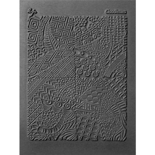 Lisa Pavelka Polymer Clay Art Supplies (Style 184) - Rubber Mold Texture Stamp - Cloodlette