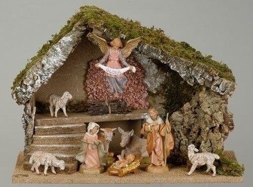 5 Inch Fontanini 9 Pc Nativity Figurine Scene 54494