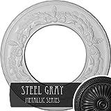 Ekena Millwork CM13SASGS 13-1/4'' x 7-1/8'' x 7/8'' Salem Ceiling Medallion, Steel Gray
