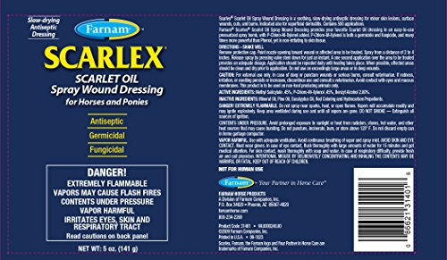 Picture of Farnam Scarlex Scarlte Oil Spray Wound Dressing for Horses and Ponies, 5 oz.