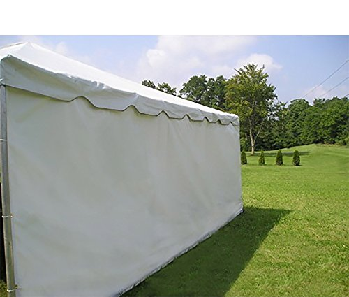 Moose Supply 7-Foot by 20-Foot Tent Size Solid PE Material Sidewall for Wedding, Event, and Party Tents with Clips and Grommets (Two (2) Side Walls Only Not Complete Tent)