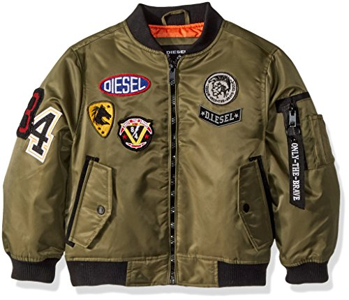 Diesel Big Boys' Outerwear Jacket (More Styles Available), Flight/Olive, 14/16 by Diesel