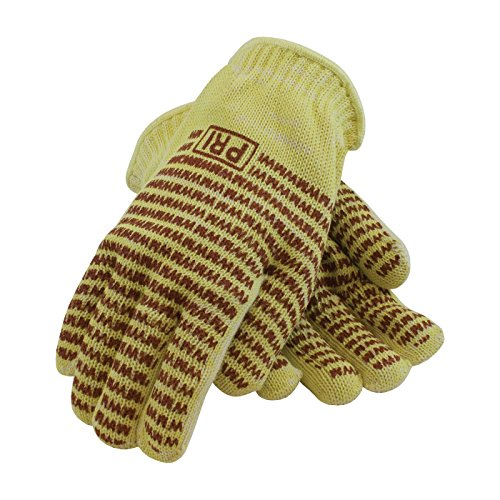 Hot Knit Mill (PIP 43-552L Kevlar/Cotton Seamless Knit Hot Mill Glove with Cotton Liner and Double-Sided EverGrip Nitrile Coating, 24 oz.)