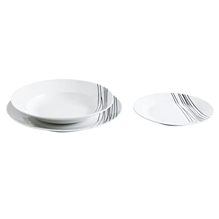 Quid Jazz - Vajilla de porcelana, 6 servicios, Apta para microondas y lavavajillas