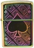 Spectrum Finish Ace of Spade Zippo Lighter