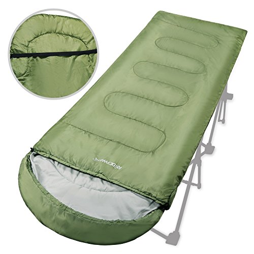 REDCAMP Adults Sleeping Bag for Camping, Warm Weather Sleeping Bag lightweight and Portable, 50-60 Degree