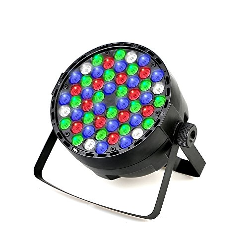 54 x 3W Stage Light LED Par Light RGBW DJ Auto & Sound-Activated DMX 512 Controll Stage Lighting for Home Wedding Party Church Concert Dance Floor Lighting