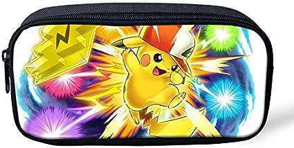 Pokemon Pikachu - Estuche para lápices de gran capacidad para la escuela, oficina, colegio, colegio, niña, tamaño grande, color Pikachu-2 22x11x4.5cm: Amazon.es: Oficina y papelería