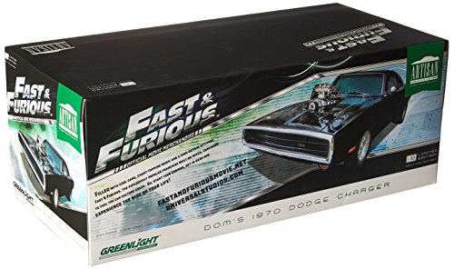 Dom's 1970 Dodge Charger Fast & Furious-The Fast and The Furious (2001) Movie Artisan Collection 1/18 by Greenlight 19027 (Fast And The Furious 1 Green Car)