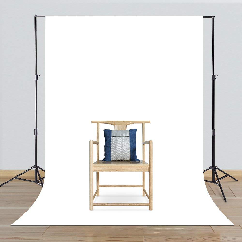 CRAPHY Portable Photo Studio 10 x 6.5ft Background Stand Kit Backdrop Support System with Muslin Cotton Background (Green Black White, 9ft x 6ft) and Carrying Bag by CRAPHY (Image #3)