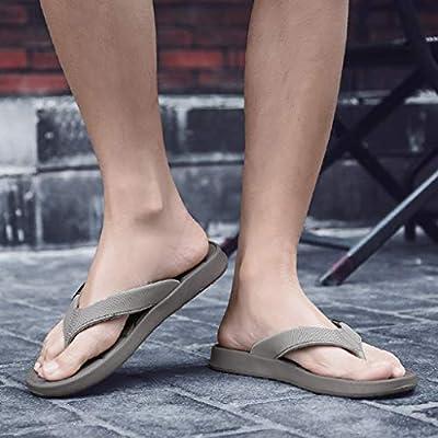 Fenleo Summer Leisure Mens Flats Beach Shoes Sea Non-Slip Breathable Hole Shoe Slippers