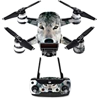 Skin for DJI Spark Mini Drone Combo - Wolf| MightySkins Protective, Durable, and Unique Vinyl Decal wrap cover | Easy To Apply, Remove, and Change Styles | Made in the USA