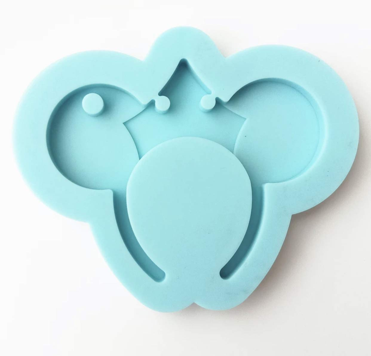 3 Point Crown Large Headband Silicone Keychain Mold Perforated Resin Clay Mold Crafts Tools Moulds for Plaster Silicone Keyring Epoxy Mold