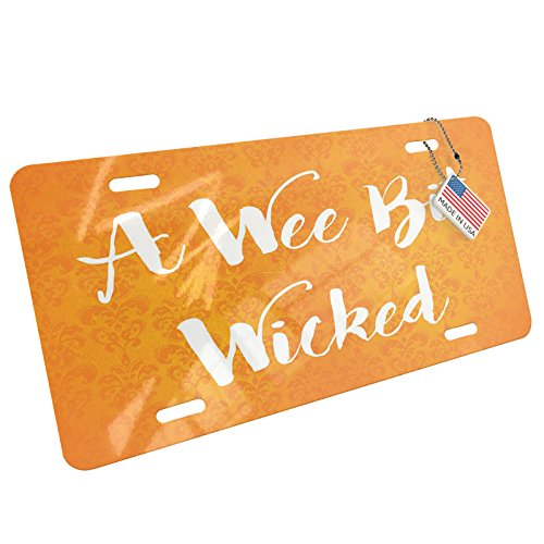 NEONBLOND A Wee Bit Wicked Halloween Orange Wallpaper Aluminum License Plate