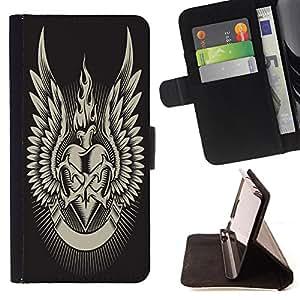 King Case - FOR Samsung Galaxy S3 MINI 8190 - Wasting time is robbing oneself - Prima caja de la PU billetera de cuero con ranuras para tarjetas, efectivo Compartimiento desmontable y correa para la mu?eca