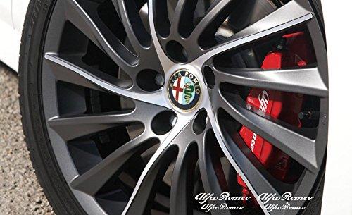 Alfa Romeo Brake caliper Mirror Window decal 70mm + 90mm (white)