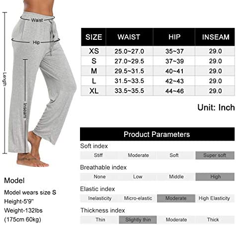 fitglam Women's Lounge Pants, Loose High Waist Yoga Pants, Drawstring Pajama Bottoms with Pockets