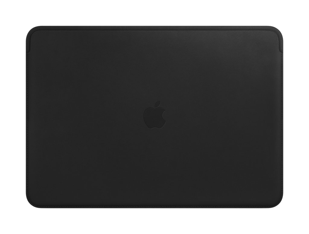 Apple Leather Sleeve (For Macbook Pro 15-Inch Laptop) - Black