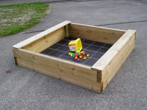 Sandkasten Bär 150x150 cm, aus 6x16cm Bohlen, Sandkiste, Buddelkiste, Sandbox, Spielkasten von Gartenwelt Riegelsberger