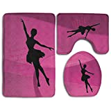 Life Is Better When You Dance Skidproof Toilet Seat Cover Bath Mat Lid Cover