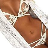 Product review for Underwear, PHOTNO Women Lingerie Corset Lace Push Up Vest Top Bra+Pants Set Underwear Suit (S)