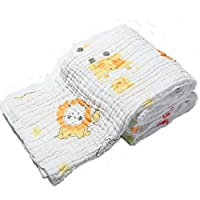Lucear Muslin Baby Bath Towels Lovely Animal Print Also Warm for Baby Blanket...