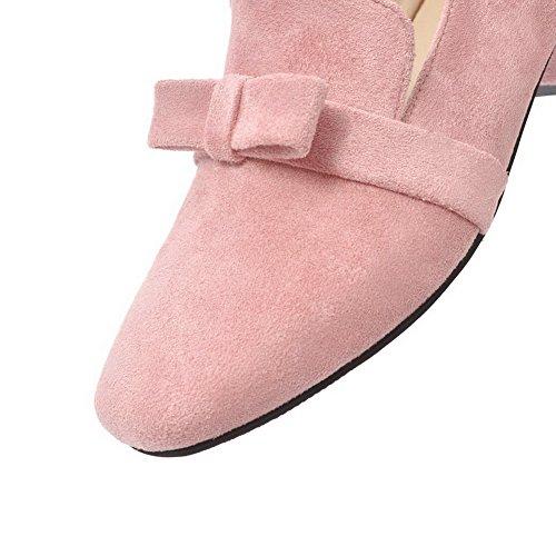 Odomolor Päälle Naisten Toe Vedettävä Pumput kengät Alhaisen Neliön 43 Vaaleanpunainen Selin Himmeä Kiinteä ggUwrxHq