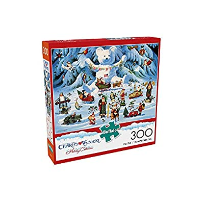 Buffalo Games - Holiday Collection - Charles Wysocki - Jingle Bell Teddy and Friends - 300 Large Piece Jigsaw Puzzle: Toys & Games