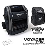 MVP Disc Sports Voyager Pro Backpack Disc Golf Bag with Forcefield Rainfly - Slate