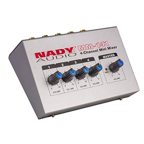 Nady-MM-141-4-Channel-mono-unbalanced-Mini-Mixer--Inputs-output-Portable-Battery-powered-or-use-optional-AC-adapter
