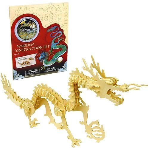 Dragonology Asian Lung Dragon Wooden Construction Kit by Puzzle Games