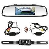 emmako CMOS de visión trasera Backup Monitor Cámara y espejo Kit universal impermeable con 7LED de visión nocturna coche/vehículo/Caravana/remolques/Camper lkl-18