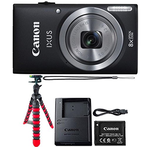 Canon IXUS 185 / ELPH 180 20MP Black Compact Digit...